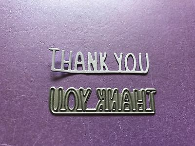 FIRST EDITION THANK YOU SENTIMENT CUTTING AND EMBOSSING DIE