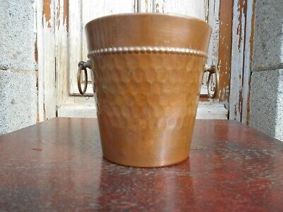 Vintage French small copper champagne/ ice bucket/planter/jardiniere