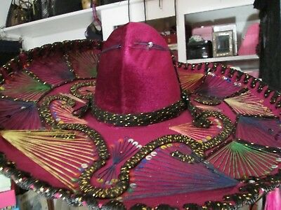 df1f96f0f1 Vintage Authentic Mexican Sombrero Hat Pigalle 22
