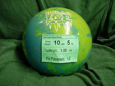 10 Former Display(wo Orig Box) Storm Polar Ice Green/blue Urethane Bowling Ball