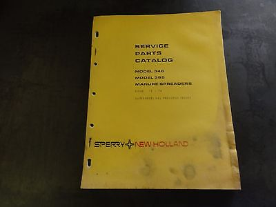 New Holland 346 365 Manure Spreader Service Parts Catalog  11-74