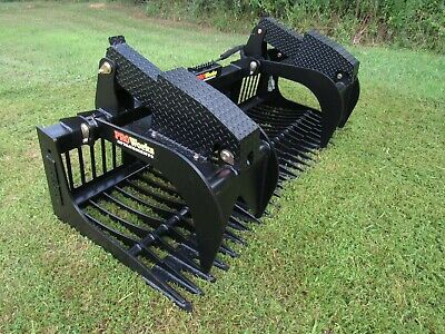 84 Severe Duty Rock Bucket Grapple Bobcat Skid Steer Attachment - Ship 199