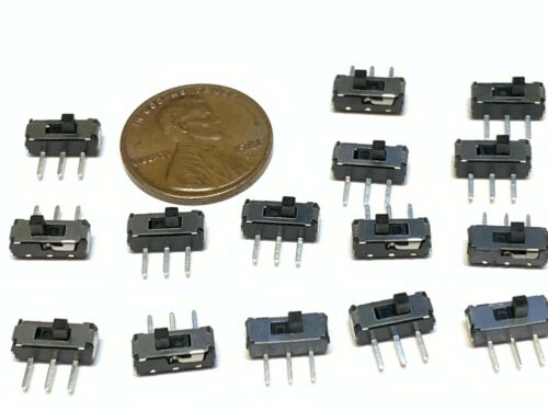 15 Pieces  MSK-12D19 2 position 3 Pin Slide switch SWITCHES Tactile  on/off A29