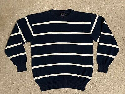 Paul and Shark Yachting Bretagne SWEATSHIRT Sweater cotton MEDIUM blue striped