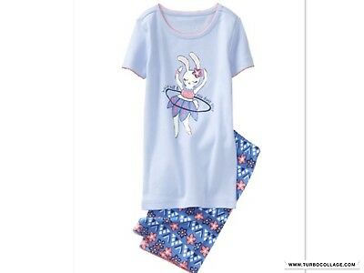 NEW GYMBOREE  GIRLS BUNNY GYMMIES PAJAMAS SLEEPWEAR SIZES 5 6 8. 10 (Bunny Pajamas)