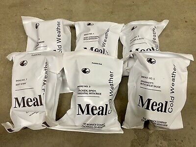 MCW (Meal, Cold Weather) / Cold Weather MRE (Meal, Ready To Eat) - Pack of 6