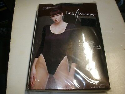 NEW No Package Leg Avenue Long Sleeve Opaque Bodysuit  M/L BLACK  Avenue Long Sleeve Bodysuit