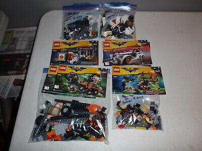 Lego Batman Lego Set Lot 70910 70911 70913 70914 w/Instructions
