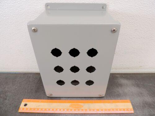 "SCE Saginaw Electrical Enclosure SCE-9PBGX 9 Push Button 8.5 X 6.5 X 4"""
