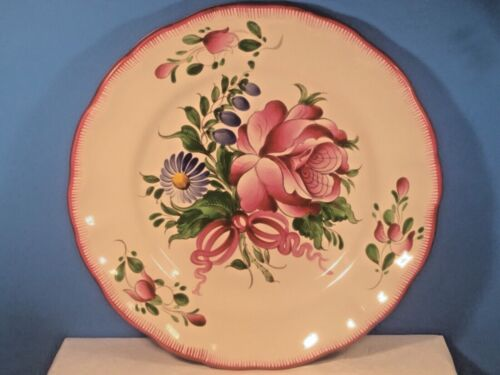 Hand Painted French Faience Plate by Andree Moinard c1940