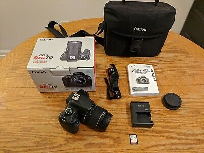 Canon EOS Rebel T6 18.0 MP Digital DSLR Camera Kit with 18-55 EF-S Lens - Black