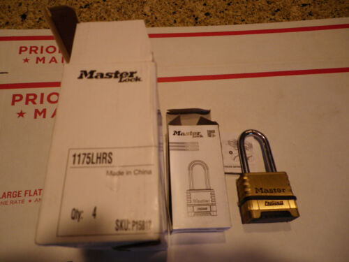 Master Lock 1175LHRS Pro Series Resettable Combo Padlock