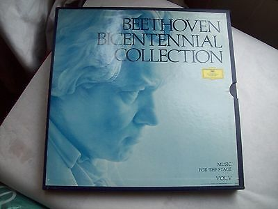 BEETHOVEN BICENTENNIAL COLLECTION Vol. V~Theater Music & Leider~5 Vinyl Box Set