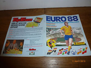 VINTAGE 1980s PANINI EURO 88 STICKER ALBUM - VERY NICE