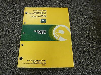 John Deere 7200 24 Row Drawn Conservation Planter Owner Operator Manual Oma52755