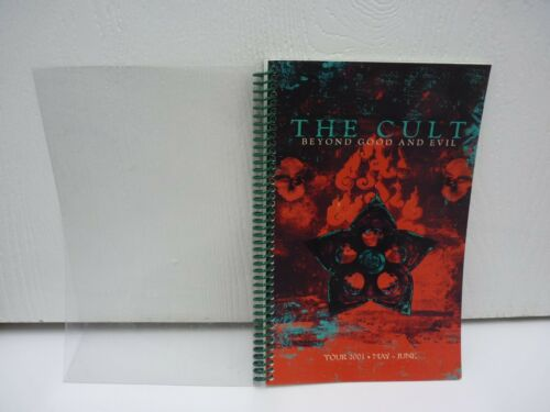 Vintage THE CULT Tour Itinerary Beyond Good & Evil May June 2001