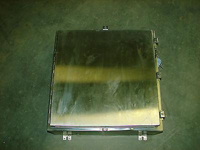 Hoffman A-24h2408ss6lp Stainless Steel Ss Enclosure 24 X 24 X 8 Xlnt