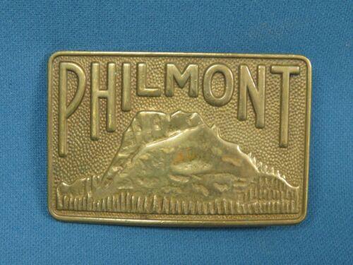 Vintage Boy Scouts of America Philmont Brass Belt Buckle