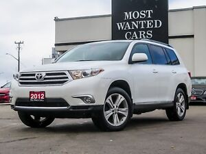 2012 Toyota Highlander V6 | LEATHER | SUNROOF | 4WD