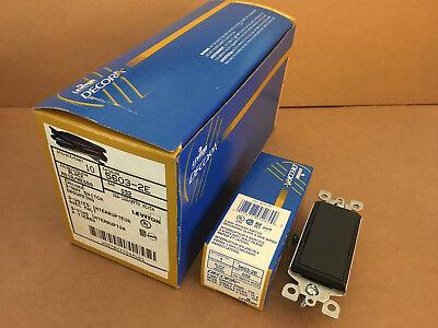 Box Of 10 New Leviton Decora 3 Way Toggle Switch 5603-2e Black 15a Gfci Rocker