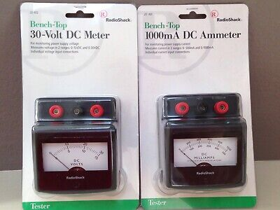 Radio Shack Bench-top 30-volt Dc Meter 22-402 Plus 1000ma Dc Ameter 22-401 New