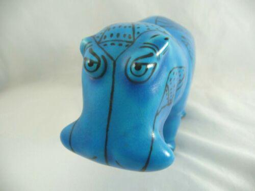 Metropolitan Museum of Art MMA William Blue Ceramic Hippo Hippopotamus