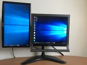 """HD monitors both 21"""". Very bright and good for Work/gaming"""