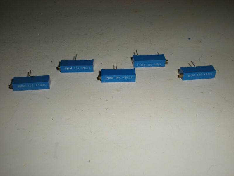 (LOT OF 5) TRIMPOT 3006W 8904F TRIMMER RESISTOR NEW