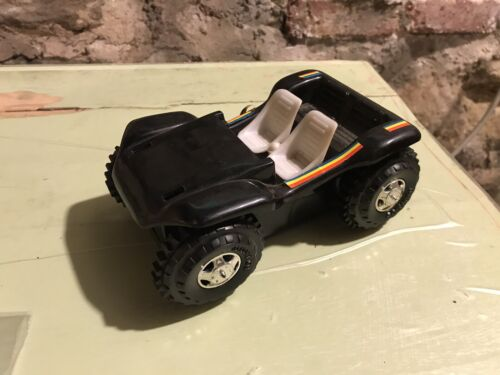 Vintage 1983 Battery Operated TK Toys Black Flip-Over Buggy No. T74L w/ Decals