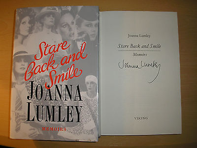 JOANNA LUMLEY - STARE BACK AND SMILE   1st/1st  HB/DJ   1989  SIGNED