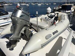 Brig Falcon F300HL Rigid Inflatable Boat w Honda 20HP outboard. Belmont Lake Macquarie Area Preview