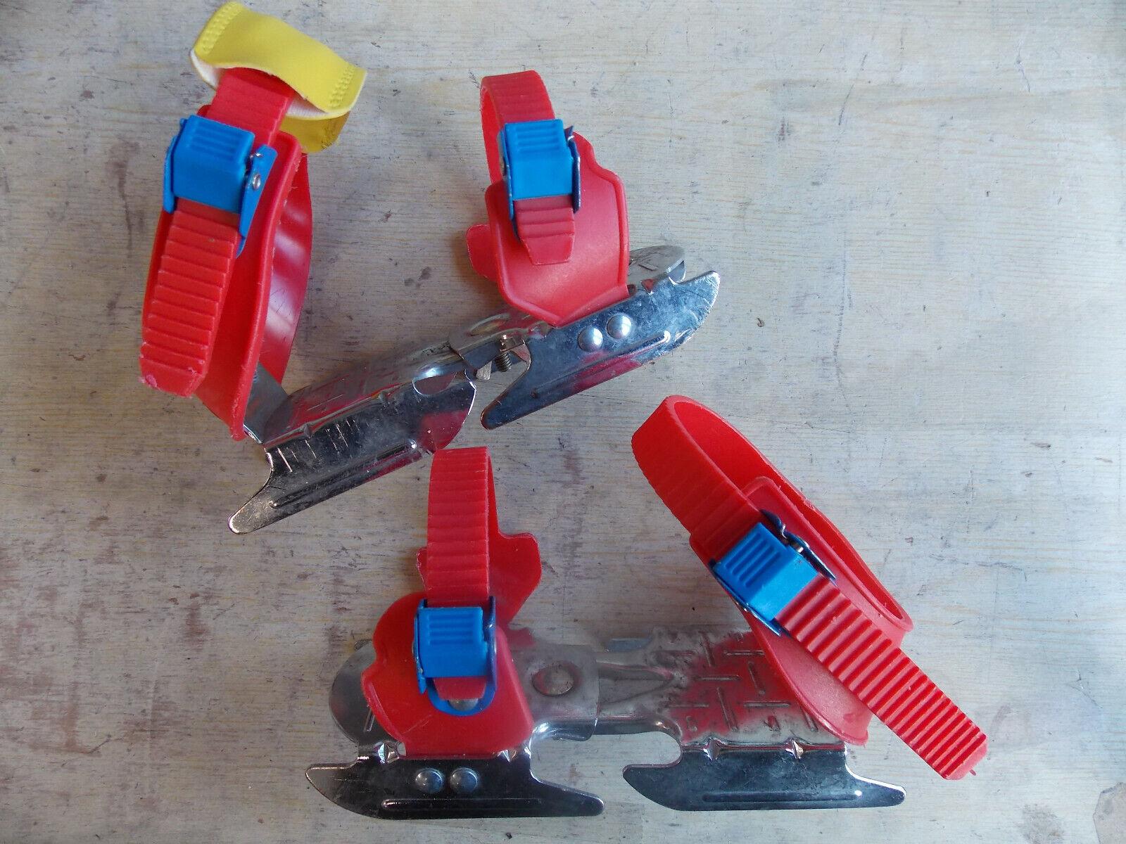 Nijdam Kinder Verstellbare Gleitschuhe Uni Rot/Blau/Gelb Schuhe,