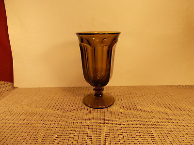 Imperial Crystal Old Williamsburg Brown Iced Tea Goblet 6 5/8""