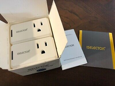 ISELECTOR Mini Smart Plug 2-Pack, Wi-Fi, Control Electric Devices from Anywhere