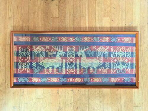 Vintage Sumba Island Pahikung Supplementary Warp Textile : Birds Roosters