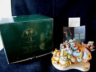 Disney Harmony Kingdom Aladdin Group Hug Marble Treasure Box MIB COA Signed 2002