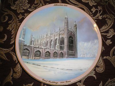 Collectible Wedgwood Millennium 2000 Bone China Wall Plate Number 27. D=20cm.