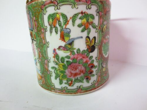 Antique Chinese Rose Medallion teapot with lid  early