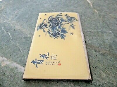 Chinese Pocket Steel Business Card Holder Case Ink Wash Painting Cover