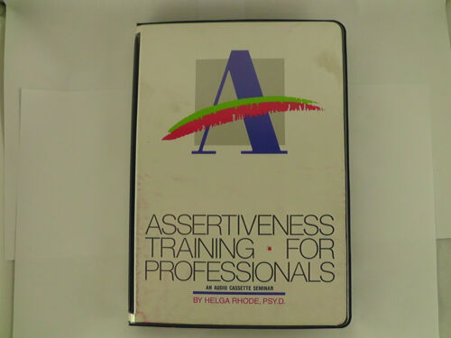 Assertiveness Training For Professionals HELGA RHODE Audiobook Cassette Set ~3