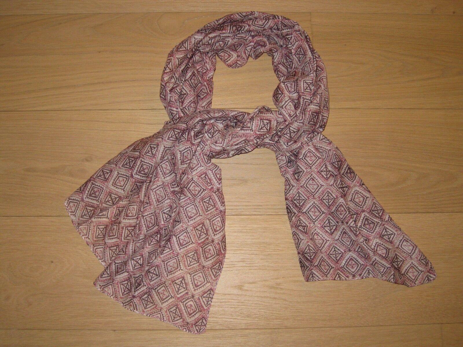 Marc O`Polo Schal Tuch, weiß rosa braun, wenig getragen