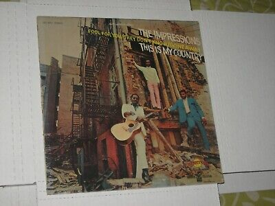 33rpm THE IMPRESSIONS this is my country CURTOM CRS 8001 nice SEE PICS