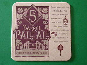 Beer-Coaster-Mat-ODELL-Brewing-5-Barrel-Pale-Ale-with-Whole-Flower-Hops
