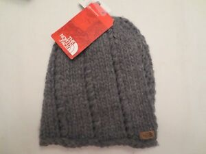 d021a32c2e5 THE NORTH FACE CHUNKY KNIT BEANIE TNF GREY NF0A2T6HDYY Authentic Women One  Size