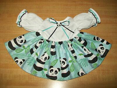 PANDA BEAR IN JUNGLE DRESS W/ PANDA BUTTON for 16-17-18