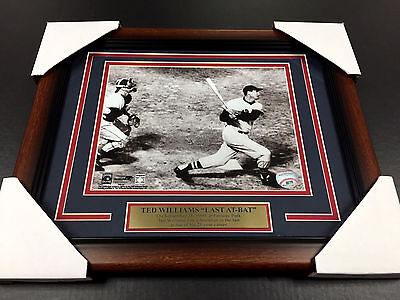 Ted Williams Framed 8X10 Photo Final Last At Bat Homerun Boston Red Sox