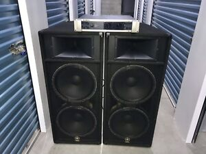 Powerful YAMAHA PA system - P7000A amp and S215V speakers