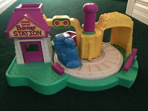 Barney train station tot