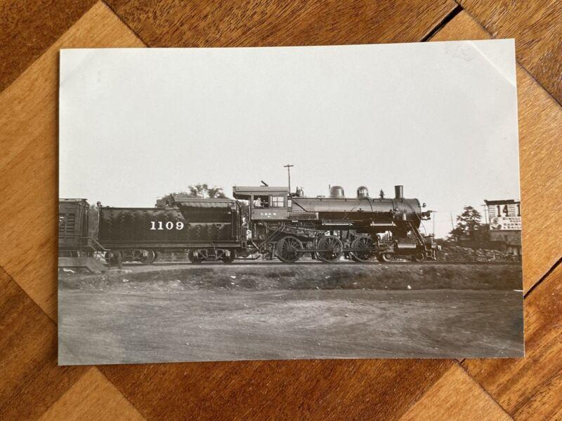 Chicago North Western Railroad Locomotive 1109 Vintage Photo C&NW