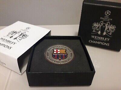Oficial moneda uefa champions league final wembley 2011 fc barcelona messi